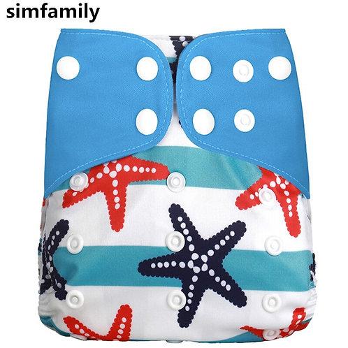 [Simfamily] 1Pcs Reusable Cloth Diaper Adjustable Baby Nappies Washable Nappy