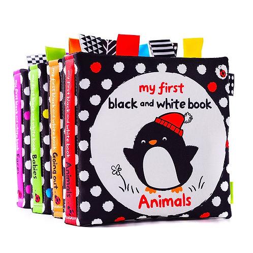 LakaRose Baby Black and White Label Cloth Book Newborn