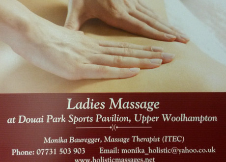 Ladies Massage now available in Pavilion