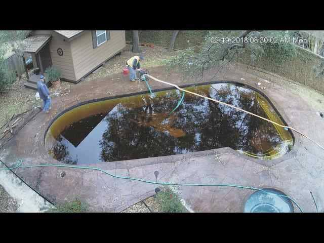 Pool demolition in Austin