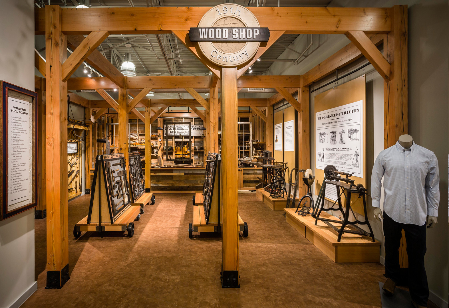 Duluth Trading Co. Custom Wood Shop Burlington, MA