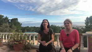 Discussing our day in Ibiza, while searching for field trips for our retreats.