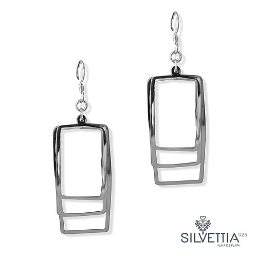Rectangular  dangling earrings