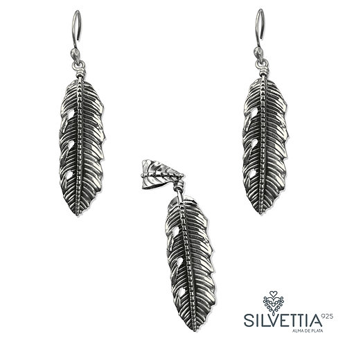 Leaf silver set