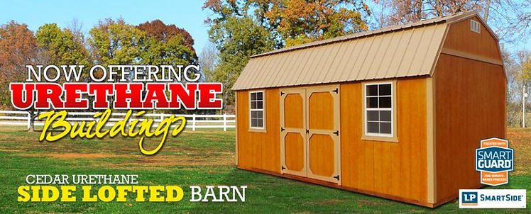 Cedar Urethane Side Lofted Barn