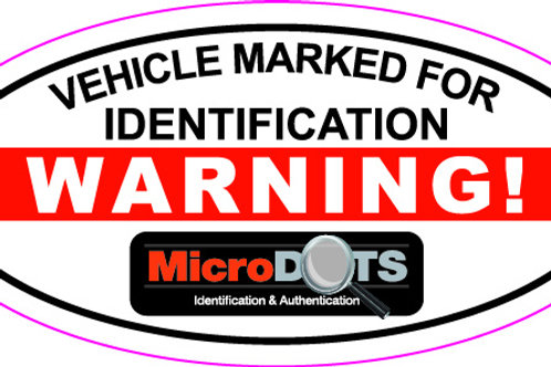 MicroDOT Warning Decal, Vehicle