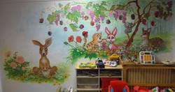 Peinture murale crèche