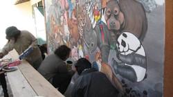 Fresque murale école