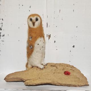 felted barn owl