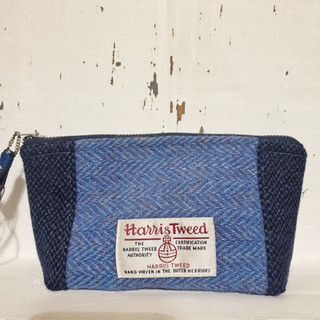Handmade tweed purse