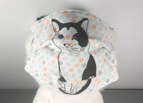 Fabric Face Mask- Cat