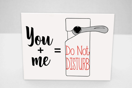 Do not disturb card