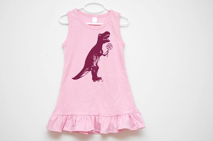 Dinosaur Pink Dress