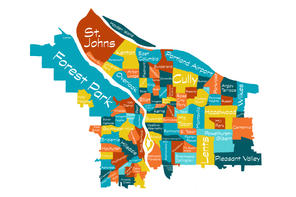 Custom Portland Neighborhood Map