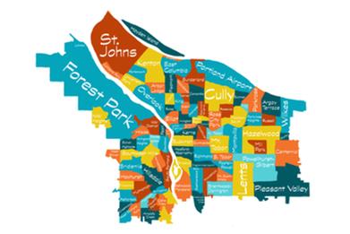 Custom Portland Neighborhood Map