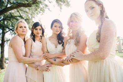 Kayan and bridesmaids