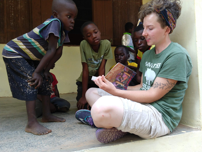 Reading to Children in Africa
