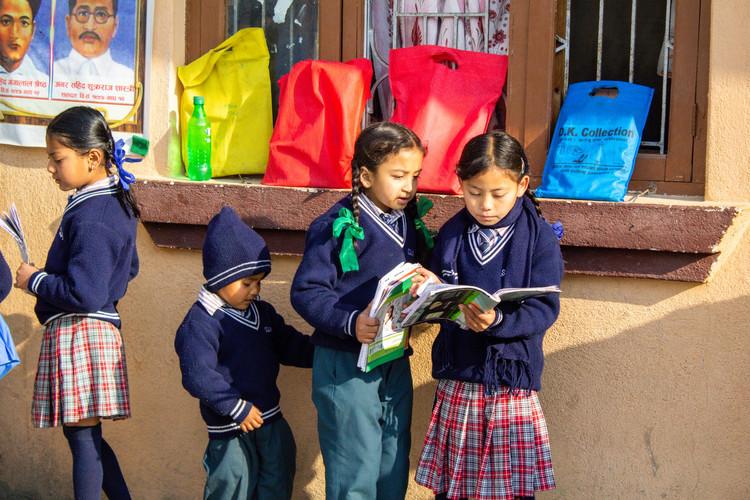 Children Reading in Nepal