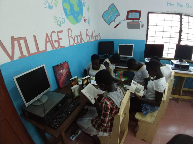 Newly completed computer room in Africa