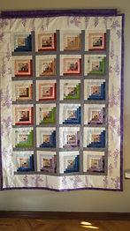 Kimono silk quilt no. 1 as wall-hanging.