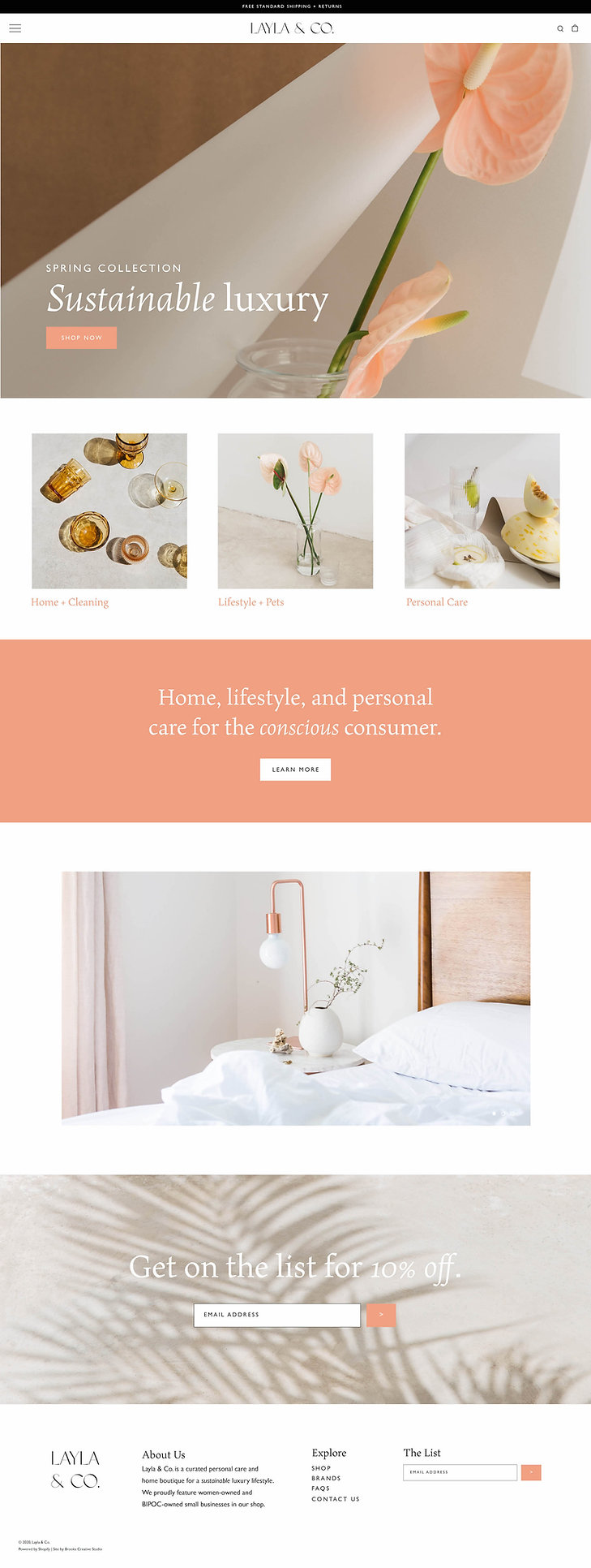 Shopify web design for online boutique