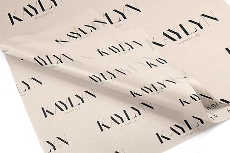 Custom shipping tissue paper design for haircare brand
