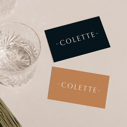Business card and logo design for accessories brand
