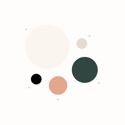 Color palette for loungewear brand