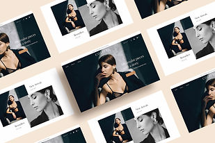 Shopify web design for fashion brand