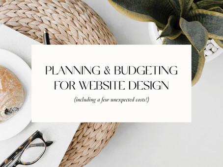 PLANNING & BUDGETING FOR WEBSITE DESIGN