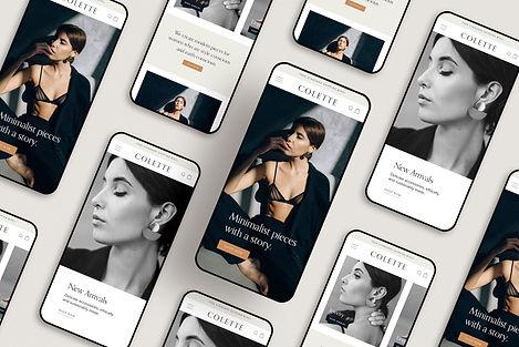 Colette Mobile Homepage Web Design Mocku