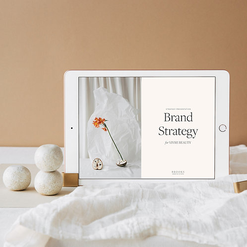 Brand strategy presentation template for graphic designers
