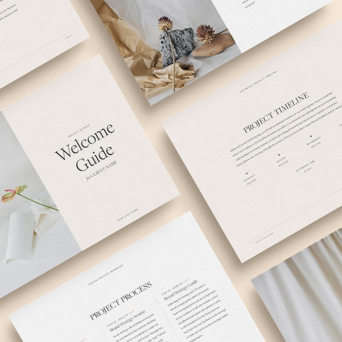 Client welcome guide template for graphic designers