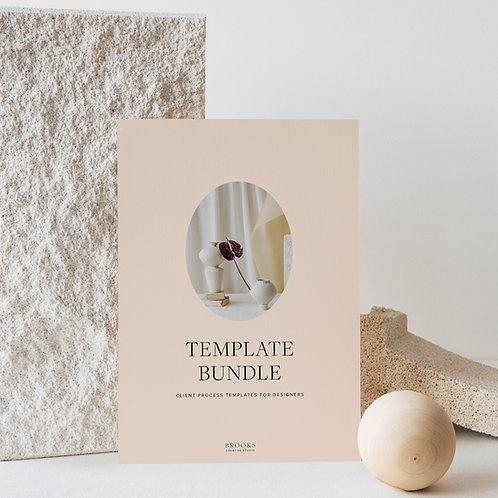 Client process template bundle for graphic designers