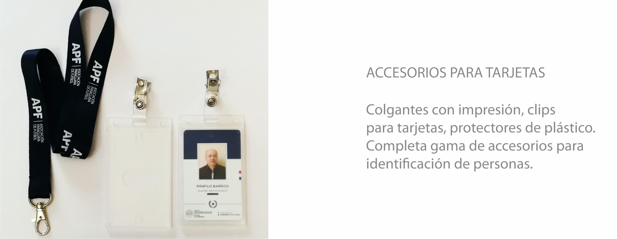 Identificación y accesorios