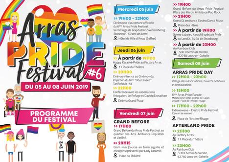 Programme Arras Pride 2019