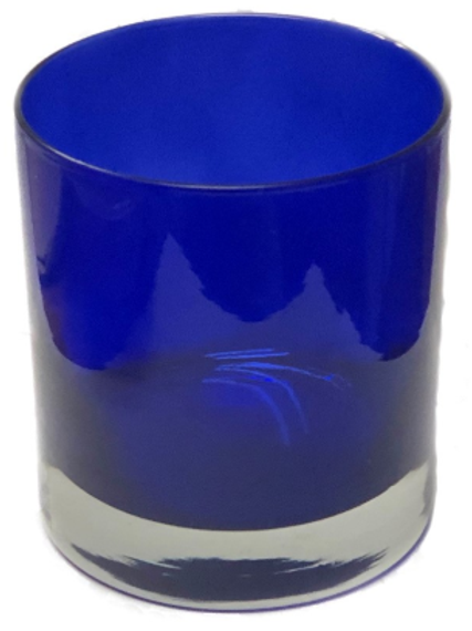 Private Label Blue Heavy Bottom Glass Tumbler 11oz | 36 Candles