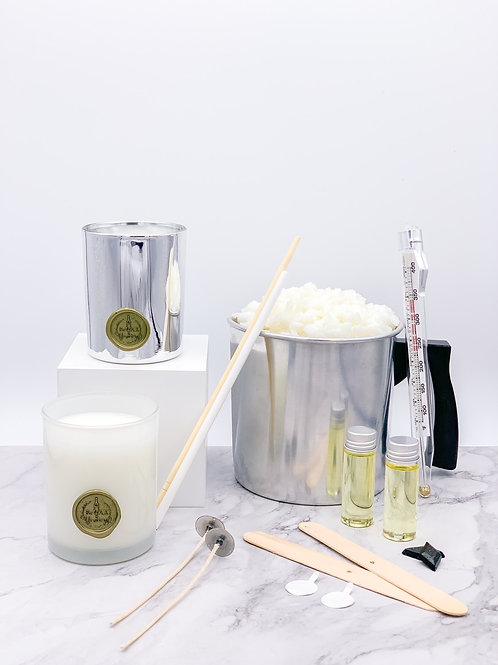 Luxury Candle Making Kit -Silver & White