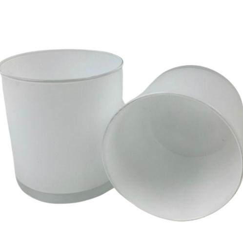 Private Label White Glass Tumbler 11oz | 36 Candles