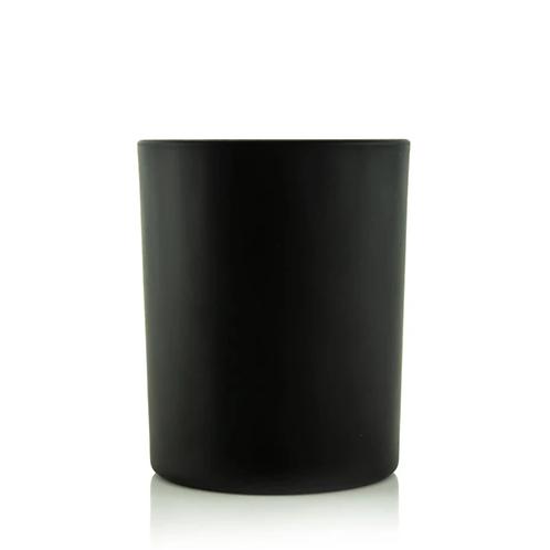 Private Label Matte Black Glass 8oz   48 Candles