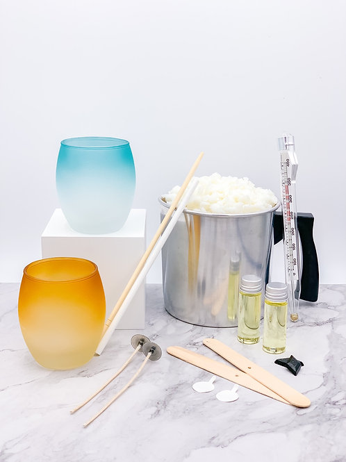 Oval Glasses Candle Making Kit