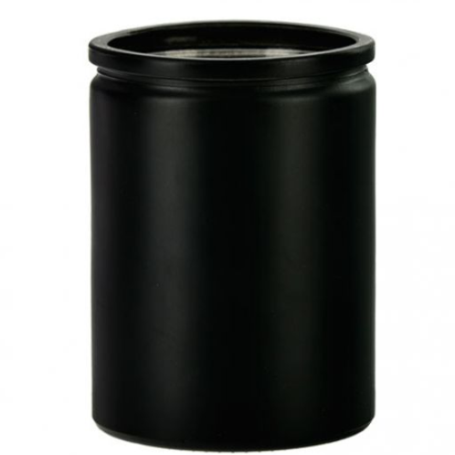 Private Label Matte Black Cylinder Glass 12oz | 48 Candles