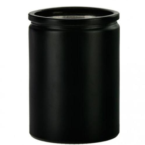 Matte Black Cylinder Glass 12oz | 48 Candles