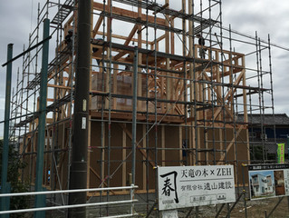 浜北区新原152号線沿いで新築工事