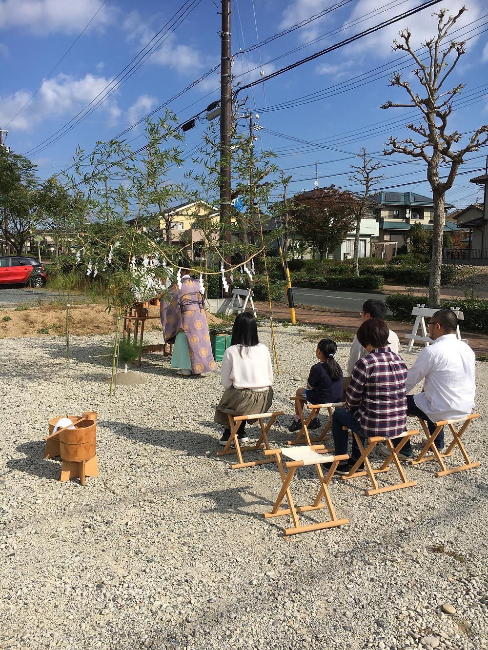 新都田 晴天の中で地鎮祭
