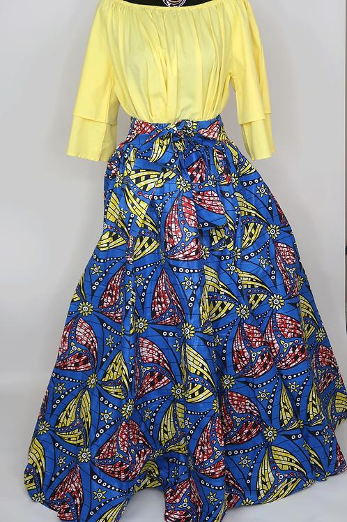 Long Printed Skirt