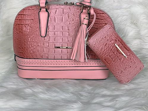 Pink Brahmin Bag plus Wallet