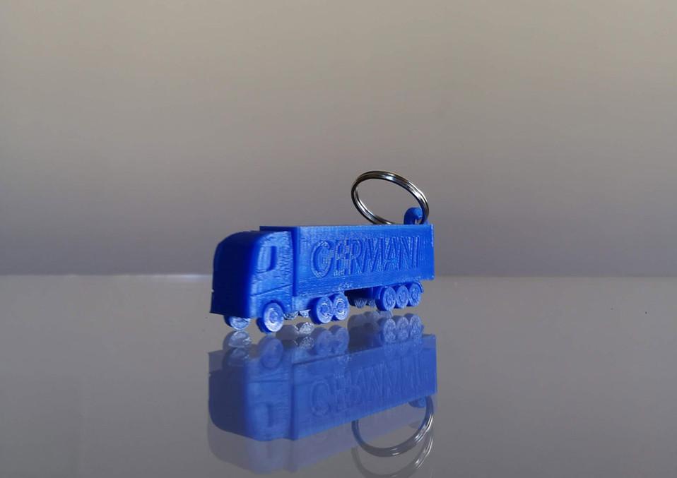 portachiavi stampa 3d camion logo aziend