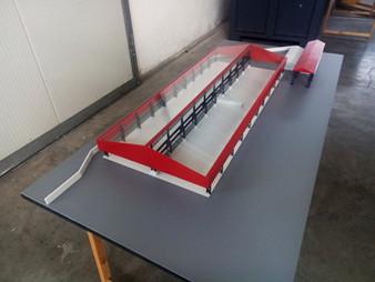 plastico struttura industriale modellino