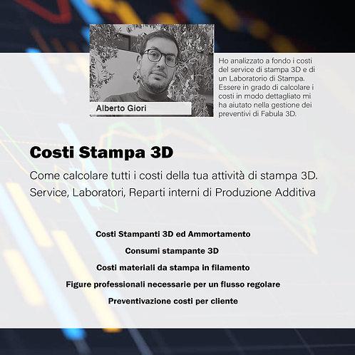 Corso per Calcolare i Costi della Stampa 3D